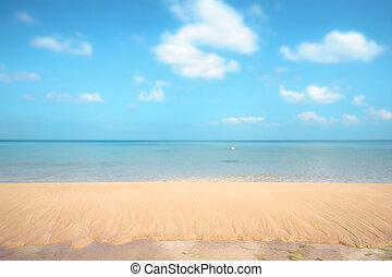 soleado, playa, arenoso