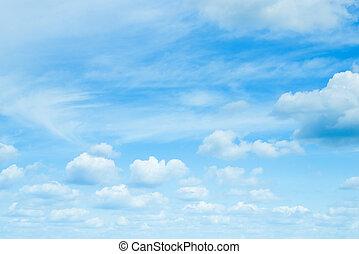 soleado, sky., day., azul