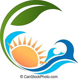 soleado, vida, verde, mar