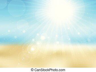 soleggiato, 2707, defocussed, scena spiaggia