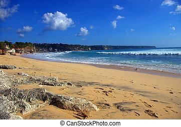 soleggiato, caldo, spiaggia