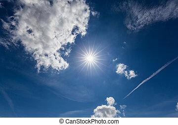 soleggiato, cielo, giorno