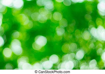 soleggiato, Estratto, verde, fondo, natura