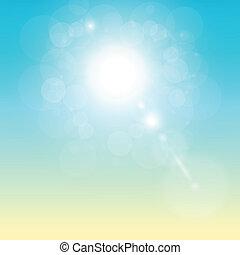 soleggiato, fondo, tropicale