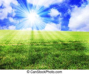 soleggiato, paesaggio