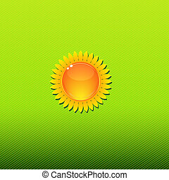 soleggiato, sfondo verde