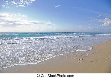 soleggiato, spiaggia, giorno
