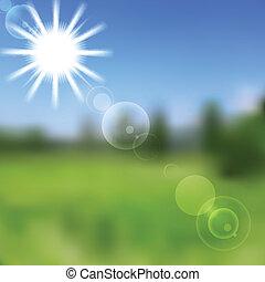 soleggiato, vettore, natura, astratto, design., pendenza, maglia