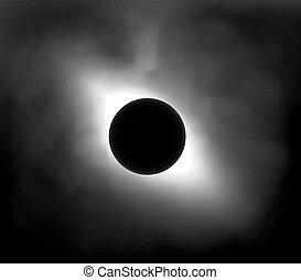 soleil, éclipse, ciel