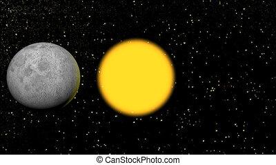 soleil, éclipse, lune