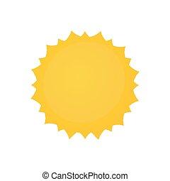 soleil, écusson, jaune