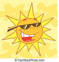 soleil, été, chaud