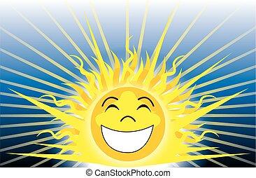 soleil, être, heureux