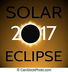 soleil, 2017, éclipse, /, solaire