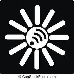 soleil, blanc, wi-fi, noir