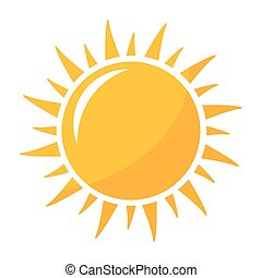 soleil brille, icône