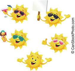 soleil, caractère, ensemble