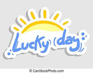 soleil, chanceux, jour