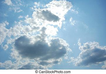 soleil, ciel clair