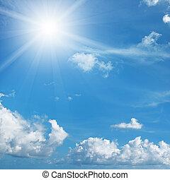 soleil, clair, ciel