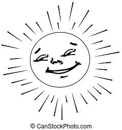 soleil, contour