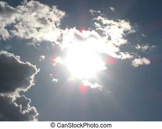 soleil, défaillance, temps