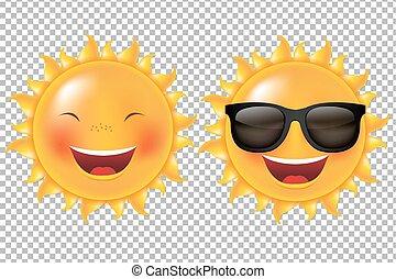 soleil, dessin animé, collection