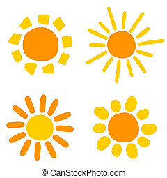soleil, dessins