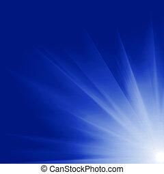 soleil, engendré, digitalement, image
