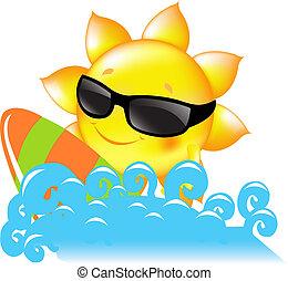 Prendre un bain de soleil Illustrations, graphiques et ...