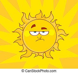 soleil, fâché