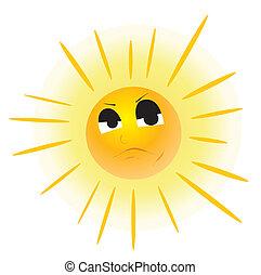 soleil, face.