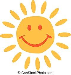 soleil, face souriant