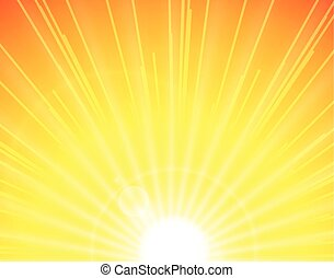 soleil, fond jaune