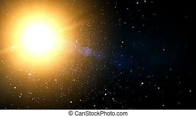 soleil, galaxie, étoiles, (60fps)