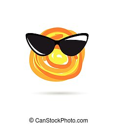 soleil, icône, illustration