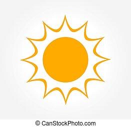 soleil, icon., briller