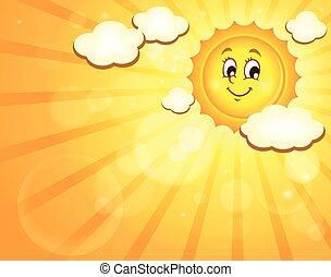 soleil, image, heureux, thème, 3