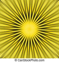 soleil, jaune, éclater