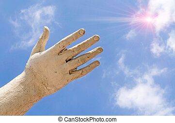 soleil, main