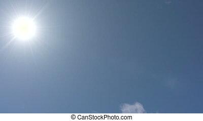 soleil, mouvements, ciel, travers, midi