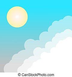 soleil, nuage ciel
