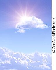 soleil, nuages