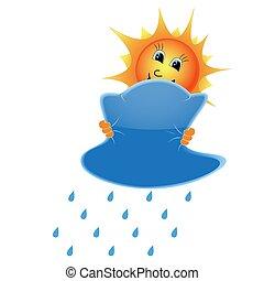 soleil, nuages, pluie