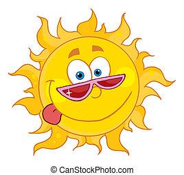 soleil, nuances, heureux