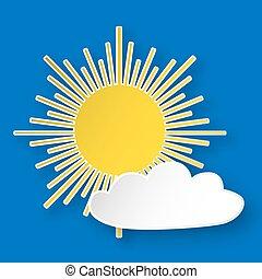 soleil, papier, ciel
