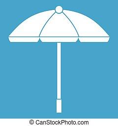 soleil, parapluie blanc, icône