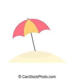 soleil, parapluie, plage