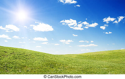 soleil, paysage