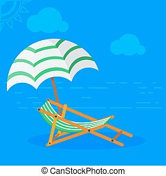 soleil, plage, lit